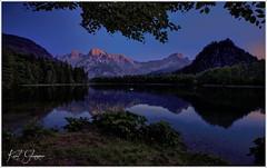 Almsee Abenddämmerung (Karl Glinsner) Tags: landschaft landscape österreich austria oberösterreich upperaustria outdoors himmel abend evening dusk abenddämmerung berge mountains gebirge almtal almsee grünau