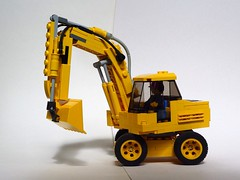 Bagger (captain_joe) Tags: toy spielzeug 365toyproject lego minifigure minifig moc car auto bagger excavator digger 8wide