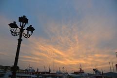 sunset (Hayashina) Tags: sardegna sunset sky italy lamp alghero sundaylights
