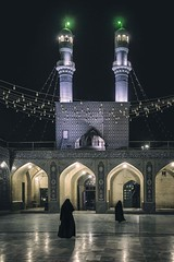 Prayer in the Night (Roberto Pazzi Photography) Tags: people street travel women iran asia bafq mosque islam culture place photography religion two persons full length outdoor nikon muslim architecture night lights