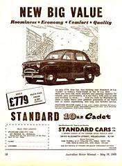 1955 Standard 10hp Cadet Sedan Aussie Original Magazine Advertisement (Darren Marlow) Tags: 1 5 9 19 55 1955 s standard c cadet sedan car cool collectible collectors classic chrome a automobile v vehicle e english england b british britain 50s
