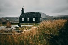 The Black Church of Budir (desomnis) Tags: iceland northerneurope europe europa landscapephotography landscape travel traveling travelphotography desomnis church budhir blackchurch snaefellsnespeninsula snaefellsnes westiceland canon5dmarkiv 5d canon5d tamron2470mmf28 tamronsp2470mmf28 oldbuilding historical historicbuilding