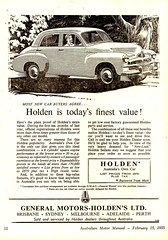 1955 FJ Holden Sedan Aussie Original Magazine Advertisement (Darren Marlow) Tags: 1 5 9 19 55 1955 f j fj h holden s sedan c car cool collectible collectors classic chrome a automobile v vehicle g m gm gmh general motors aussie australian australia 50s