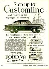 1954 Ford Customline V8 Sedan Aussie Original Magazine Advertisement (Darren Marlow) Tags: 1 5 8 9 19 f ford c customline v v8 s sedan car cool collectible collectors classic chrome a automobile vehicle u us usa united states american america 50s 4 54 1954