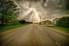 At the Edge of the Storm (kendoman26) Tags: hss happyslidersunday sun sunlight sunrays stormclouds sonyalpha sonya7mk2 sonya7ii samyang14mm28 morrisillinois