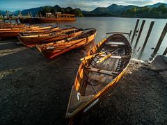 Boats at Keswick (david.travis) Tags: unitedkingdom england sunset lakedistrict watersedge derwentwater cumbria boat keswick dusk