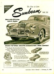 1955 Rootes Group Sunbeam Saloon MKIII 2267cc Saloon 2 Seater Sports Sports Convertible Aussie Original Magazine Advertisement (Darren Marlow) Tags: 1 2 5 9 19 55 1955 s sunbeam mk iii saloonsedan sport seater c convertible car cool collectible collectors classic chrome r rootes g group a automobile v vehicle e english england 50s
