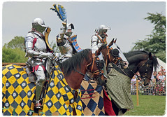 Leeds Castle jousting team (pg tips2) Tags: leeds castle 2019 reenactment joust medieval kent event horseback equine combat fair leedscastle three team english horse horses armour