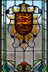 Stained Glass / Castle Cornet (Images George Rex) Tags: stpeterport ci guernsey stainedglasswindow castlecornet guernseycoatofarms imagesgeorgerex photobygeorgerex igr channelislands stpierreport 3c475dee851511e997adabe65ad4008a