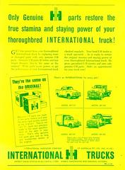 1955 International Harvester Truck Genuine Parts AR-110 AR-130 AR-160 AR-162 Aussie Original Magazine Advertisement (Darren Marlow) Tags: 1 2 3 5 6 9 19 55 1955 i international h harvester t truck g genuine parts p ar110 ar130 ar160 ar162c cool collectible collectors classic a automobile v vehicle u s us usa united states american america 50s