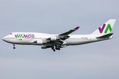 EC-MQK // Wamos Air // B747-4H6 // Stansted (SimonNicholls27) Tags: wamos air 747 boeing b747 stansted egss stn tottenham hotspur champions league final madrid canon 5dmkiv