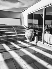Terrace at the Hotel Dolphin (martinw019) Tags: terrace shadows greekurn greece kalamos