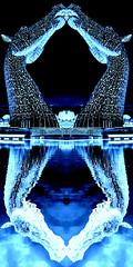 Falkirk Kelpies (michaeljoakes) Tags: falkirk thekelpies scotland water xf18135mmf3556rlmoiswr fujifilmxt2 kelpies horse horsehead reflection outdoor blue outside fuji fujifilm mirror sculpture grangemouth fk27zt scottishcanals andyscott forthandclydecanal thehelix rivercarron steel stainlesssteel shstructureslimited shstructures monochrome