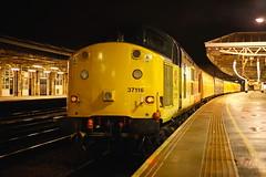 Survivor.... (marcus.45111) Tags: colasrail ukrailwaysinthedark classictraction ukbuilt 37116 class37 networkrail train railway flickr flickruk 2019