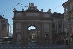 Innsbruck-2018_15 (rhomboederrippel) Tags: rhomboederrippel fujifilm xe1 november 2018 europe austria tyrolia innsbruck clearsky sunny gate thriumphpforte triumphalarch