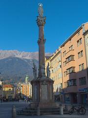 Innsbruck-2018_12 (rhomboederrippel) Tags: rhomboederrippel fujifilm xe1 november 2018 europe austria tyrolia innsbruck clearsky sunny column statue annasäule