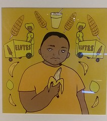 (sftrajan) Tags: queercaliforniauntoldstories latinx homo art exhibit queerca 2019 juliosalgado elotes oaklandmuseum oaklandmuseumofcalifornia yellow gay banana oakland california