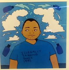 (sftrajan) Tags: queercaliforniauntoldstories latinx homo art exhibit queerca 2019 juliosalgado oaklandmuseum oaklandmuseumofcalifornia gay blue azul oakland california