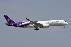 Thai Airways Airbus A350-941 HS-THE Chai Badan ชัยบาดาล (EK056) Tags: thai airways airbus a350941 hsthe chai badan ชัยบาดาล bangkok suvarnabhumi airport