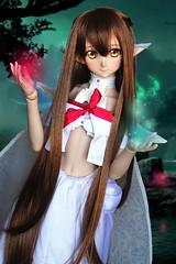 Asuna ♪ (Mei') Tags: dollfie dream asuna titania version ver dollfieasuna sword art online yuuki volks animedoll anime dol manga kawaii magical forest elf fairy