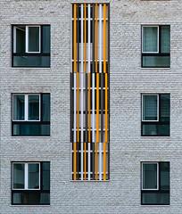 Trio but different (jefvandenhoute) Tags: belgium belgië antwerp antwerpen nieuwzuid light shapes colors wall windows