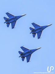 Sky Fighters (Unknown-Photographer) Tags: stpetersburg saintpetersburg saint petersburg unknownphotographeroutlookcom sony cameraphotography sonya200 photo photography up russianknights sukhoi su 30 su30 aerobatic team flight fly warbirds plane jet fighter sky blue white red star пилотажная группа русские витязи истребитель clouds telephoto lens airforce