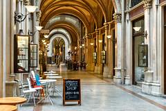 Vienna: Ferstel Passage (Jorge Franganillo) Tags: ferstelpassage vienna wien austria commercial shops terrace bar shoppingarcade galeríacomercial