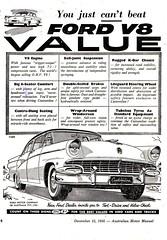 1956 Ford Customline V8 Sedan Aussie Original Magazine Advertisement (Darren Marlow) Tags: 1 5 6 9 19 56 1956 f ford c customline v 8 v8 s sedan car cool collectible collectors classic chrome fins a automobile vehicle u us usa united states american america 50s