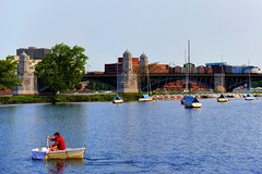 Leaving the Frame (WilliamND4) Tags: sliderssunday hss harbor water boston rowboat nikon d750