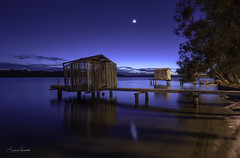 Maroochy River Boathouses at Dawn (Emanuel Papamanolis) Tags: boathouses maroochyriver dawn australia water reflections