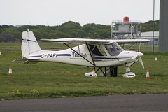 G-PAPI (IndiaEcho) Tags: lee on the light england canon eos airport general aircraft aviation hampshire aeroplane civil solent airfield daedalus 1000d ikarus c42 gpapi