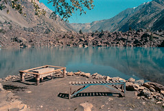 Reflections at the Naltar Lake (Sherazdionysus) Tags: landscape naturephotography solitary travel 35mmphotography analogphotography pentaxart pentaxk1000 cosina cosinon28mm