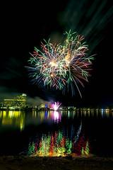 WA Day Fireworks (alme 27) Tags: night fireworks australia crown water river perth swanriver southpacfic waday westernaustralia longexposure pentax sigmalens k3ii cardileinternationalfireworks