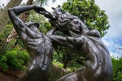 Swept Away (BenBuildsLego) Tags: bronze sculpture statue brookgreen gardens south carolina nude female male unique angle sony a6000 gleb derujinsky curved escultura