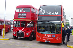 IMGP9922 (Steve Guess) Tags: whitelund morecambe lancashire england gb uk bus aec routemaster arriva ribble alexander dennis enviro 400 heritege retro livery centenary stagecoach