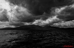 Gathering storm (red.richard) Tags: storm clouds bw monochrome sea isle arran clyde scotland nikon d3300
