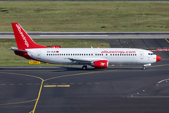ZA-ALB Albawings Boeing 737-46J (buchroeder.paul) Tags: eddl dus dusseldorf international airport germany europe ground zaalb albawings boeing 73746j