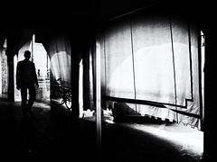 The shadow man (Sandy...J) Tags: olympus monochrom man mono mood atmosphere alone atmosphäre light licht street streetphotography sw schwarzweis strasenfotografie stadt silhouette shadow sunlight city contrast photography fotografie blackwhite bw urban noir stimmung darkness dark reflection spiegelung