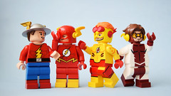 The Fourth Generation (Andrew Cookston) Tags: lego dc comics theflash jaygarrick wallywest bartallen impulse barryallen editing photoshop custom minifig macro toy still life photography andrew cookston andrewcookston