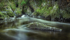 Fairy glen (paullangton) Tags: wales water river snowdonia rocks valley trees green longexposure landscape conwy ravine gorge woodland nature
