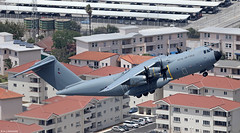 Royal Air Force Airbus Military A400M Atlas C1 ZM419 at RAF Gibraltar/LXGB (Mosh70) Tags: gibraltar rafgibraltar royalairforce airbusmilitary a400matlasc1 zm419 24sqn raf rafbrizenorton