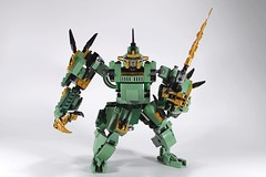 LEGO NINJAGO 70612 SAGE SAMURAI (AlteredBricks) Tags: green robot dragon lego lloyd mecha mech moc 70612 ninjago alt sword samurai build alternate robo ninja