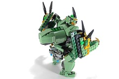 LEGO NINJAGO 70612 SAGE SAMURAI (AlteredBricks) Tags: green dragon lego ninjago robot alt lloyd sword samurai build mecha mech alternate robo moc 70612 ninja