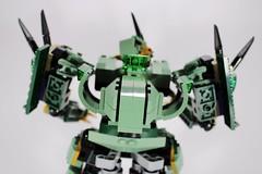 LEGO NINJAGO 70612 SAGE SAMURAI (AlteredBricks) Tags: green dragon lego lloyd mecha mech moc 70612 ninjago robot alt sword samurai build alternate robo ninja