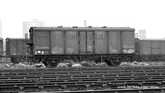 c.1964 - Dairycoates East, Hull, East Yorkshire. (53A Models) Tags: britishrailways swiss sbbcff interfrigo ferryvan 070364 goodswagon freightcar dairycoateseast hull eastyorkshire train railway locomotive railroad