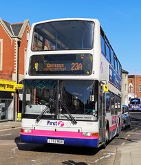 First Norwich 33246 is on Castle Meadow while on route 23a to Costessey via Norwich Road. - LT52 WUX - 1st April 2019 (Aaron Rhys Knight) Tags: firsteasterncounties firstnorwich 33246 2019 castlemeadow norfolk norwich first dennistrident plaxtonpresident