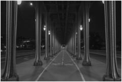 Pont De Bir-Hakeim. (babell4321) Tags: paris france blackandwhite longexposure nightphotography recent explore beverleybell 2016 bridge