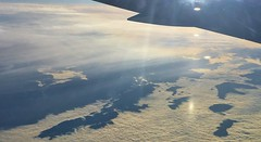 hills popping out of the clouds - over Italy, from Air Canada Rouge B767-300 (jeffglobalwanderer) Tags: aircanadarouge b767300 aerialphoto aerialview viewfromaircraft europe hills clouds windowseat italy italiancountryside
