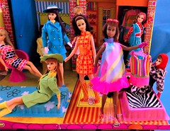 FRANCIE - FEST!!! (ModBarbieLover) Tags: francie mod barbie doll fashion mattel checks bright colour 1968 1971