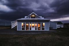 Dusk (erichudson78) Tags: island islande iceland hella dusk crépuscule twilight canoneos6d clouds nuages maison house sliderssunday hss outside architecture window fenêtre soir evening